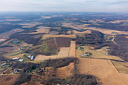 Aerial photograph of rural Cross Plains, Dane County, Wisconsin, USA.