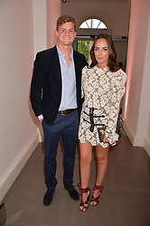 Lady Eliza Manners and Thor Winkler at the Tatler's English Roses 2017 party in association with Michael Kors held at the Saatchi Gallery, London England. 29 June 2017.
