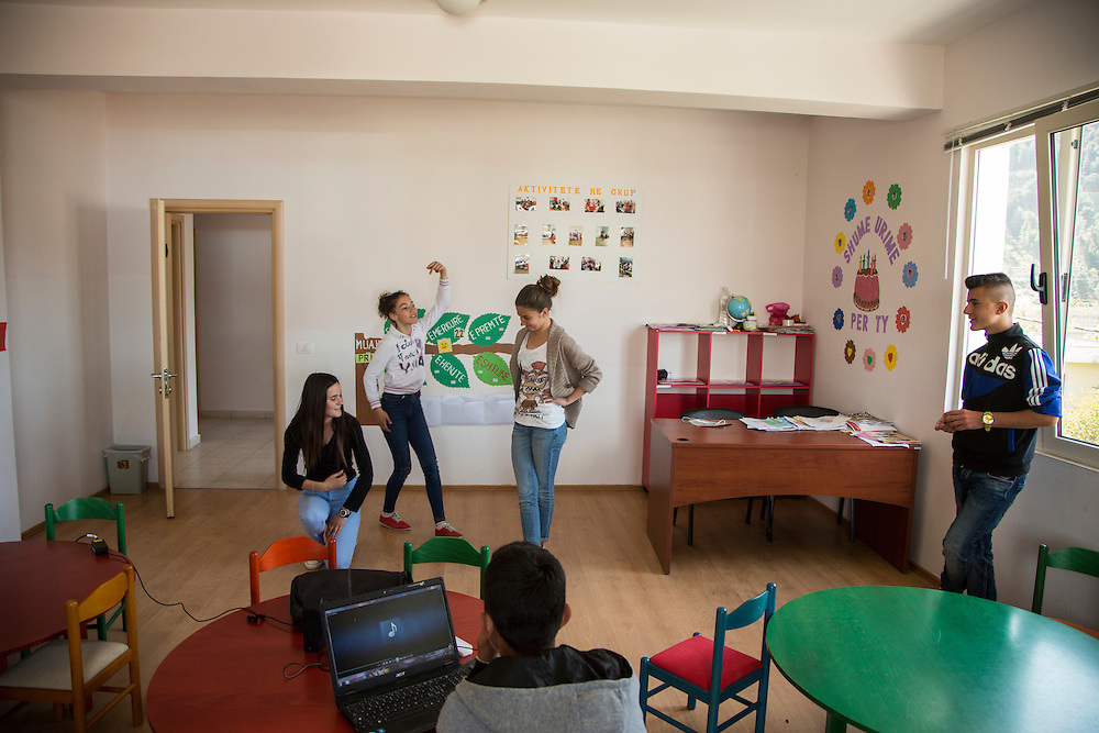 Community center for Roma and Egyptian-speaking population in Berat, Albania. (RELEASED).<br /> <br /> Matt Lutton for the European Commission