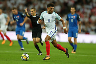 Alex Oxlade-Chamberlain of England in action.FIFA World cup qualifying match, European group F, England v Slovakia at Wembley Stadium in London on Monday 4th September 2017.<br /> pic by Andrew Orchard, Andrew Orchard sports photography.