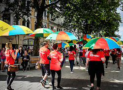 Participants in the Cardiff Pride parade. 2014