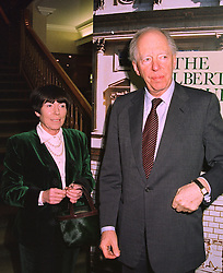 LORD & LADY ROTHSCHILD at an exhibition in London on January 7th 1998.<br /> MEK 5
