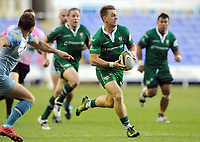 Rugby Union - 2017 Greene King IPA [RFU] Championship Final - Second Leg: London Irish [29] vs. Yorkshire Carnegie [18]<br /> <br /> Alex Lewington of London Irish makes the break to score his second half try at Madejeski Stadium.<br /> <br /> COLORSPORT/ANDREW COWIE