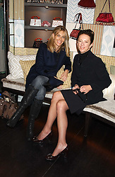 Left to right, KIM HERSOV and VICTORIA FERNANDEZ at a lunch at Allegra Hicks, 28 Cadogan Place, London to view their new collection of handbags by F.O.U. on 20th October 2005.<br /><br />NON EXCLUSIVE - WORLD RIGHTS