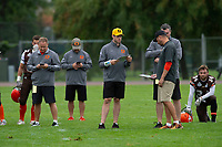 KELOWNA, BC - SEPTEMBER 8:  Coaching staff at the Apple Bowl on September 8, 2019 in Kelowna, Canada. (Photo by Marissa Baecker/Shoot the Breeze)