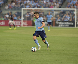August 20, 2017 - New York, New York, United States - Jack Harrison (11) of NYC FC controls ball during regular MLS game against New England Revolution on Yankee stadium NYC FC won 2 - 1  (Credit Image: © Lev Radin/Pacific Press via ZUMA Wire)