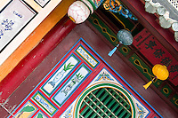 Front hall detail of Quan Cong temple in Hoi An.
