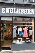 Engleborn childrenswear shop selling stylish Danish design children's clothes in Straedet in Copenhagen, Denmark