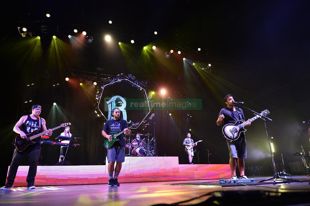 June 30, 2018 - Virginia Beach, VIRGINIA, USA - REBELUTION brings the reggae to the Veteran's United Home Loans Amphitheater . in Virginia Beach, Virginia on 30 JUNE 2018. (Credit Image: © Jeff Moore via ZUMA Wire)
