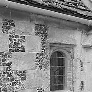 Alcove Window St. James Church - Avebury, UK - Black & White