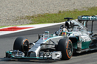HAMILTON Lewis (Gbr) Mercedes Gp Mgp W05 action  during the 2014 Formula One World Championship, Italy Grand Prix from September 5th to 7th 2014 in Monza, Italy. Photo DPPI
