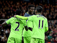 Divock Origi of Liverpool celebrates his goal during the English Premier League match at the Riverside Stadium, Middlesbrough. Picture date: December 14th, 2016. Pic Simon Bellis/Sportimage