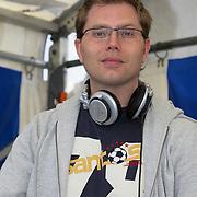 NLD/Amsterdam/20080518 - Opname strafschoppen EK Lingerie, DJ Silvan Stoet