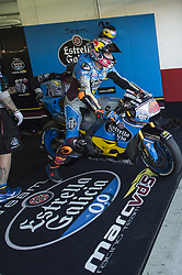 November 11, 2017 - Cheste, Spain - Jack Miller (EG 0,0 Marc VDS) start from pit during qualifying session at Valencia Motogp  (Credit Image: © Gaetano Piazzolla/Pacific Press via ZUMA Wire)