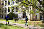 FAYETTEVILLE, AR - April 11:  Students walk past the Agriculture building on the campus of the University of Arkansas on April 11, 2007 in Fayetteville, Arkansas.   (Photo by Wesley Hitt/Getty Images) *** Local Caption ***