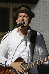 """June 18, 2017 - Worms, Rhineland-Palatinate, Germany - Michael """"Kosho"""" Koschorreck from the German band COBODY performs live on stage at the 2017 Jazz and Joy Festival in Worms. (Credit Image: © Michael Debets/Pacific Press via ZUMA Wire)"""