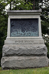 July 2007:18th Ohio Infantry.  Monuments of Valor at the Chickamauga National Park in Georgia. There are hundreds of memorials and markers throughout the park.  They tell the story of the battle, show positioning, and honor those who were engaged in the battle. Attractions near Chattanooga Tennessee. Point Park, National Park Service - Lookout Mountain, TN.