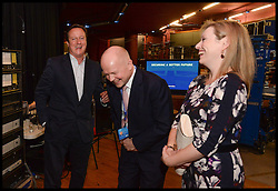 Image ©Licensed to i-Images Picture Agency. 28/09/2014. Birmingham, United Kingdom. William Hague behind the stage with the PM after William's last speech to the    Conservative Party Conference.Picture by Andrew Parsons / i-Images