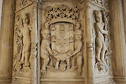 A sculpture detail from the refectory (1535) of the Convent of Jesus Christ at Tomar in the Center of Portugal. Started to be built in the 12 th Century by the Poor Knights of Jesus Christ (the Templars), with strong influence from Jerusalem's religious buildings from the time of Crusades, as the Temple of the Rock.Paulo Cunha/4see
