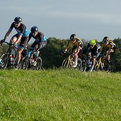 ZWOLLE (NED) CYCLING OCTOBER 16th <br /> 61e Ster van Zwolle: <br /> Kopgroep op de dijk lans de IJssel <br /> Tijmen Eising, Coen Vermeltfoort, Rick Pluimers