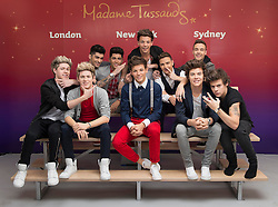 © Licensed to London News Pictures. 16/04/2013, London. UK. Madame Tussauds London gave the members of pop music group One Direction a look of their finished wax figures at a secret viewing on Tuesday 16th April 2013,  before their latest gig in Nottingham. Photo credit : Madame Tussauds/LNP