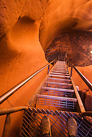 Ladders used to explore the sandstone slots of the Lower Antelope Canyon, Lake Powell Navajo Tribal Park, Arizona.