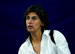 11-11-2007 VOLLEYBAL: PRE OKT: NEDERLAND - AZERBEIDZJAN: EINDHOVEN<br /> Nederland wint ook de de laatste wedstrijd. Azerbeidzjan verloor met 3-1 / Hanneke van Leusden<br /> ©2007-WWW.FOTOHOOGENDOORN.NL