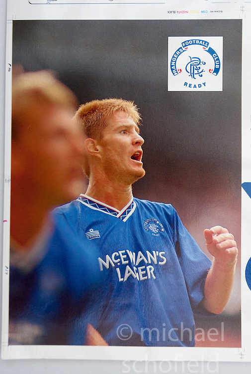 Richard Gough in a game V Celtic at Ibrox. Pictures and pages from the time at Rangers News 1989 to 1993..©Michael Schofield.