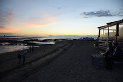Southend-on-Sea beach at sunset, Essex