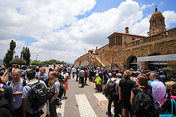 60818556  <br /> People line up outside the Union Buildings to see the body of former South African President Nelson Mandela in Pretoria, South Africa, on Dec. 11, 2013. Thousands of South Africans on Wednesday thronged to the Union Buildings in Pretoria where the body of former South African president Nelson Mandela will lie in state for three days, Wednesday, 11th December 2013. Picture by  imago / i-Images<br /> UK ONLY