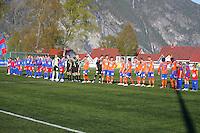 Stranda 20110501. Bilder fra cupkampen mellom Stranda og Aalesund i 1. runde av Norgesmesterskapet i fotball for herrer på Stranda Stadion søndag kveld.<br /> Foto: Svein Ove Ekornesvåg