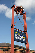 The Museum of Science and Industry sign on the 25th August 2018 in Manchester in the United Kingdom.