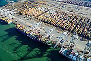 Nederland, Zuid-Holland, Rotterdam, 18-02-2015; Eerste Maasvlakte, Coloradoweg en Europahaven. ECT Delta Terminal, Europe Container Terminals. <br /> luchtfoto (toeslag op standard tarieven);<br /> aerial photo (additional fee required);<br /> copyright foto/photo Siebe Swart
