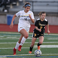 Terra Nova vs Norte Dame Belmont in a CCS Girls Soccer Game at Westmont High School, Campbell CA on 2/27/18. (Photo by Bill Gerth)