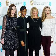 London, England, UK. 9th January 2018. Amanda Berry, Letitia Wright,Jane Lush ,Natalie Dormer attend EE British Academy Film Awards Nominations, London, UK