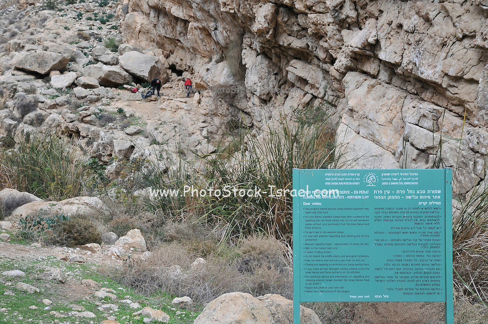 Israel, Jordan Valley, Wadi Qelt (Wadi Perat) Rock climbing site