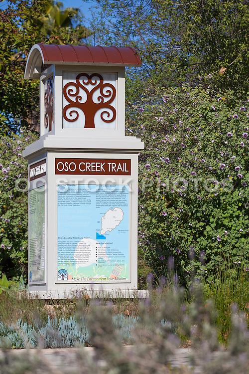 Oso Creek Trail Monument In Mission Viejo California