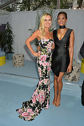 Left to right, AMANDA HOLDEN and ALESHA DIXON at the Glamour Magazine Women of the Year Awards in association with Next held in the Berkeley Square Gardens, London on 7th June 2016.
