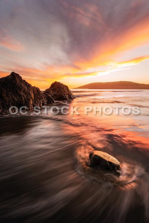 Avila Beach Seascape at Sunset