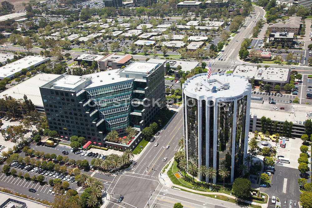 Aerial Photo over Von Karmen Ave. in Irvine California