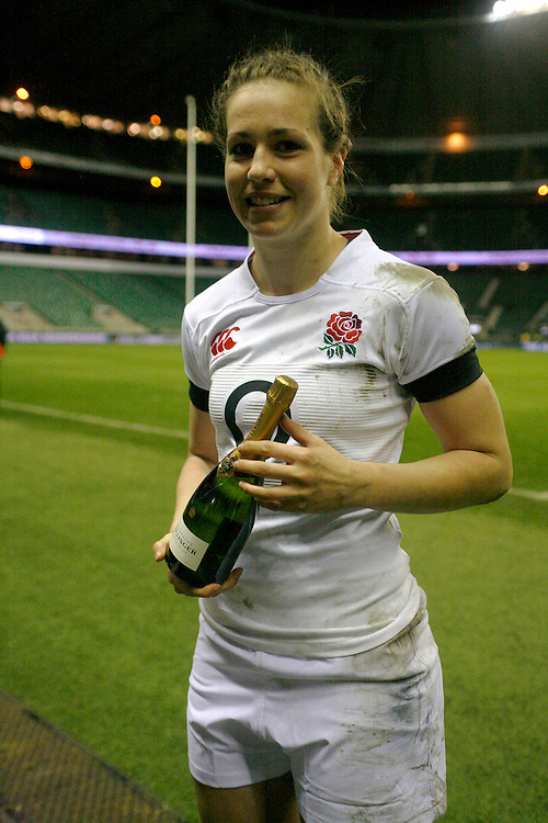 Emily Scarratt 'Player of the Match' England Women v Ireland Women at Twickenham Stadium, Twickenham, England on 22nd February 2014 ko 1820
