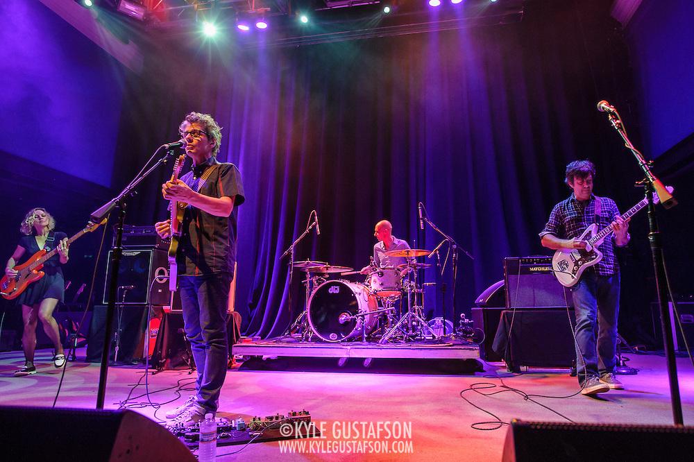 Britta Phillips, Dean Wareham, Lee Wall  and Sean Eden of Luna perform at the 9:30 Club on their reunion tour.
