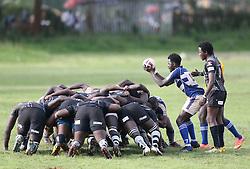 Mean Machine and Mwamba RFU in a scrum during their Kenya Cup Tournament at Railway Club In Nairobi, on 3rd December 2016. Mwamba won 51-8. Photo/Fredrick Onyango/www.pic-centre.com (KEN)