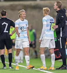 Lucas Haren (FC Helsingør) kommer på banen istedet for Carl Lange (FC Helsingør) under kampen i 1. Division mellem FC Helsingør og Vendsyssel FF den 18. september 2020 på Helsingør Stadion (Foto: Claus Birch).