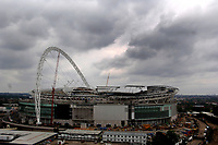 Photo: Daniel Hambury.<br /> Wembley Stadium. 14/06/2006.<br /> The new home of English football, Wembley, seen from the roof of the nearby Ibis hotel.