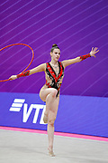Gaiduk Maja from Lithuania is competing in the Rhythmic Gymnastics World Cup at Vitrifrigo Arena on 28/29 May 2021, Pesaro, Italy. She was born on May 27, 2004.