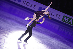 HELSINKI, April 2, 2017  Tessa Virtue (U) and Scott Moir (D) of Canada perform during Exhibition Program at ISU World Figure Skating Championships 2017 in Helsinki, Finland on April 02, 2017. Virtue and Moir, took the 1st place at the Ice Dance. (Credit Image: © Matti Matikainen/Xinhua via ZUMA Wire)