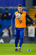 Chelsea midfielder Eden Hazard (10) warms up before the The FA Cup match between Chelsea and Manchester United at Stamford Bridge, London, England on 18 February 2019.