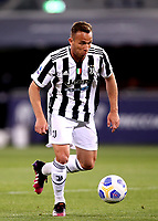BOLOGNA, ITALY - MAY 23: Arthur Melo of Juventus FC in action ,during the Serie A match between Bologna FC and Juventus FC at Stadio Renato Dall'Ara on May 23, 2021 in Bologna, Italy.(Photo by MB Media/Getty Images)
