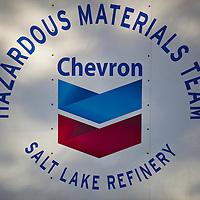 Chevron cleanup truck, Liberty Park, Salt Lake City